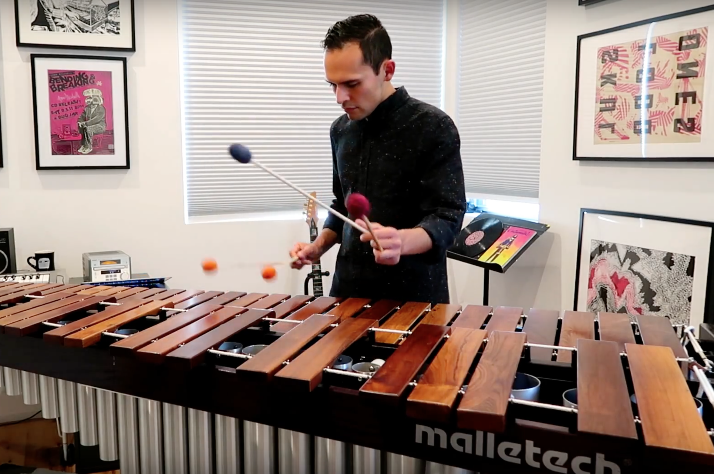 New YouTube Video: Immigrant Song for solo marimba