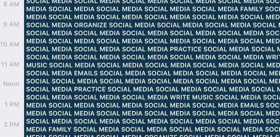 Music, Social Media and Mental Bandwidth